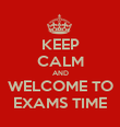 KEEP CALM AND WELCOME TO EXAMS TIME - Personalised Poster large
