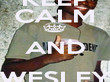 KEEP CALM AND WESLEY LUIZ - Personalised Poster large