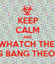 KEEP CALM AND WHATCH THE  BIG BANG THEORY - Personalised Poster large
