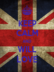 KEEP CALM AND WILL LOVE - Personalised Poster large