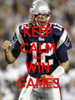 KEEP CALM AND WIN GAMES - Personalised Poster large
