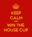KEEP CALM AND WIN THE  HOUSE CUP - Personalised Poster large