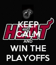 KEEP CALM AND WIN THE PLAYOFFS - Personalised Poster large