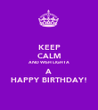 KEEP CALM AND WISH LIGHTA A HAPPY BIRTHDAY! - Personalised Poster large