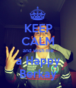 KEEP CALM and wish me a Happy Berkay - Personalised Poster large