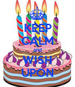 KEEP CALM and WISH UPON - Personalised Poster large