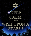 KEEP CALM AND WISH UPON A STAR!!! - Personalised Poster large