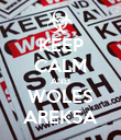 KEEP CALM AND WOLES AREK5A - Personalised Poster large