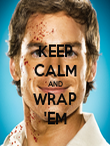 KEEP CALM AND WRAP 'EM - Personalised Poster large