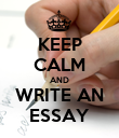 KEEP CALM AND WRITE AN ESSAY - Personalised Poster large