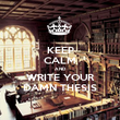 KEEP CALM AND WRITE YOUR DAMN THESIS - Personalised Poster large