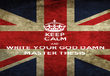 KEEP CALM AND WRITE YOUR GOD DAMN MASTER THESIS - Personalised Poster large
