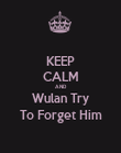 KEEP CALM AND Wulan Try To Forget Him - Personalised Poster large