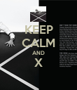 KEEP CALM AND X  - Personalised Poster large