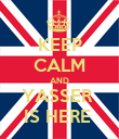 KEEP CALM AND YASSER  IS HERE  - Personalised Poster large