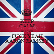 KEEP CALM and yell FUCK YEAH AARON RAMSEY - Personalised Poster large
