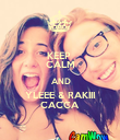 KEEP  CALM  AND YLEEE & RAKIII CACCA - Personalised Poster large