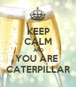 KEEP CALM AND YOU ARE  CATERPILLAR - Personalised Poster large