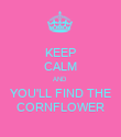 KEEP CALM AND  YOU'LL FIND THE CORNFLOWER - Personalised Poster large