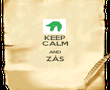 KEEP CALM AND ZÁS  - Personalised Poster large