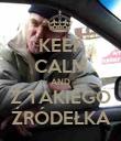 KEEP CALM AND Z TAKIEGO ŹRÓDEŁKA - Personalised Poster large