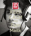 KEEP CALM AND Zayn Mailk - Personalised Poster large