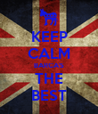 KEEP CALM BARCA'S THE BEST - Personalised Poster large