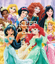 KEEP CALM & Be a Princess - Personalised Poster large