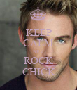 KEEP CALM BE A ROCK CHICK - Personalised Poster large