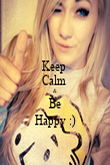 Keep  Calm  & Be Happy :) - Personalised Poster large
