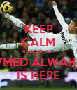 KEEP CALM BEACAUSE  A7MED ALWAHIBI IS HERE - Personalised Poster large