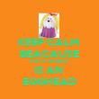 KEEP CALM  BEACAUSE RITIKA SHARMA IS AN  EGGHEAD - Personalised Poster large