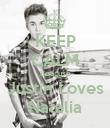 KEEP CALM Beacuse Justin Loves Natalia - Personalised Poster large