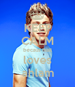 KEEP CALM becaus niall loves ahlam - Personalised Poster large
