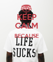KEEP CALM BECAUSE   - Personalised Poster large