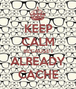 KEEP CALM BECAUSE I ALREADY CACHE - Personalised Poster large