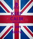 KEEP CALM because i am kiera - Personalised Poster large