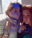 KEEP CALM because I Love  My Dottora ♥ - Personalised Poster large