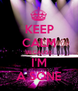 KEEP CALM BECAUSE I'M A SONE - Personalised Poster large