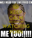 KEEP CALM BECAUSE I'M WATCHING PORN - Personalised Poster small