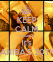 KEEP CALM because it's SAHIBA'S 20Th♥ - Personalised Poster large