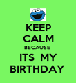 KEEP CALM BECAUSE  ITS  MY BIRTHDAY  - Personalised Poster large
