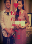 Keep Calm because  Now is 7!!!!! - Personalised Poster large