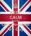KEEP CALM Because One Direction Are Gay - Personalised Poster large