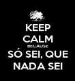 KEEP CALM BECAUSE SÓ SEI, QUE NADA SEI - Personalised Poster large
