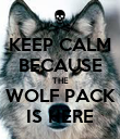 KEEP CALM BECAUSE THE WOLF PACK IS HERE - Personalised Poster large