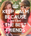 KEEP CALM BECAUSE THEY ARE THE BEST FRIENDS - Personalised Poster large