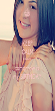 KEEP CALM because tomorrow is my BIRTHDAY - Personalised Poster large