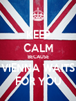 KEEP CALM BECAUSE VIENNA WAITS FOR YOU - Personalised Poster large