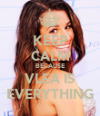 KEEP CALM BECAUSE VLEA IS EVERYTHING - Personalised Poster large